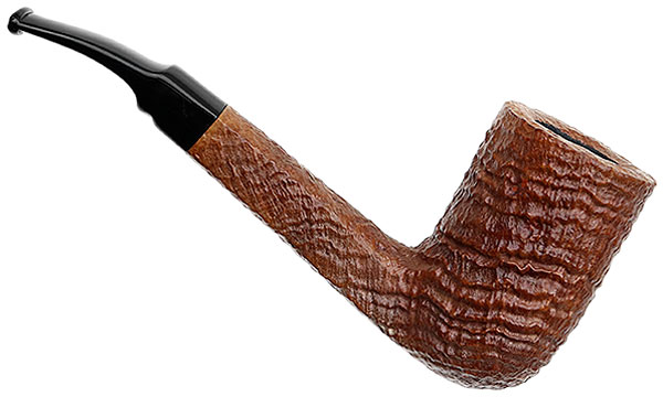Savinelli Autograph Autograph Sandblasted Bent Billiard (5) (6mm)
