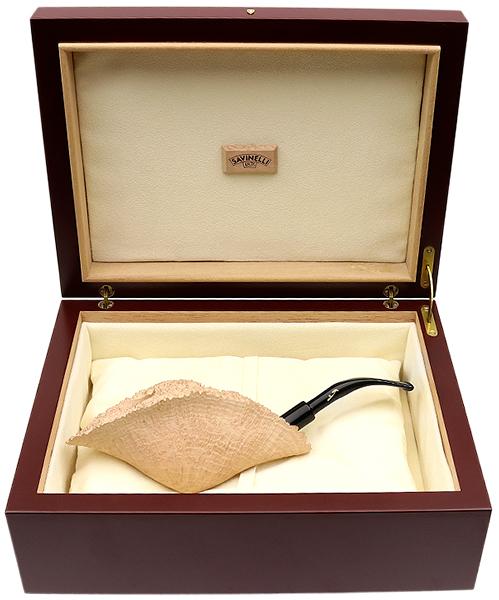 Savinelli Autograph Autograph Sandblasted Fan (Extraordinaire) (6mm) (with Box)