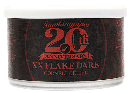 Cornell & Diehl Smokingpipes 20th Anniversary Blend: XX Flake Dark 2oz