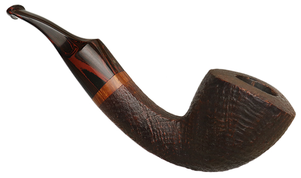 Danish Estate Pfeifen Timm Sandblasted Bent Dublin (9mm)