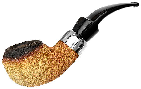 English Estate Barling African Block Meerschaum Rusticated Rhodesian