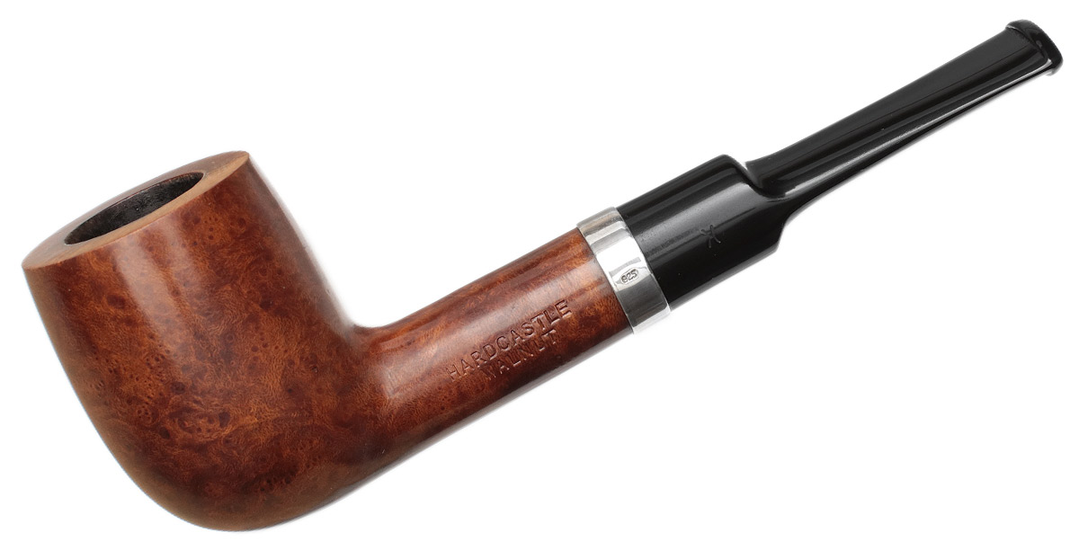 English Estate Hardcastle Walnut Smooth Bent Billiard with Silver