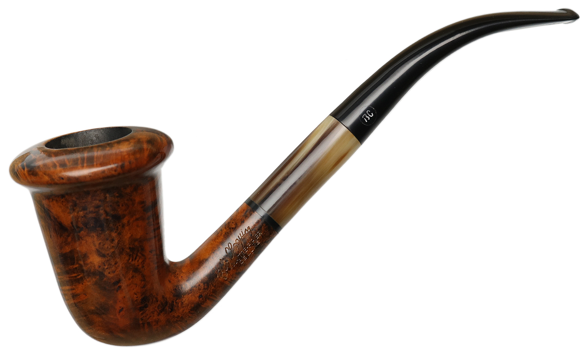 French Estate Butz-Choquin De Luxe Smooth Calabash with Horn