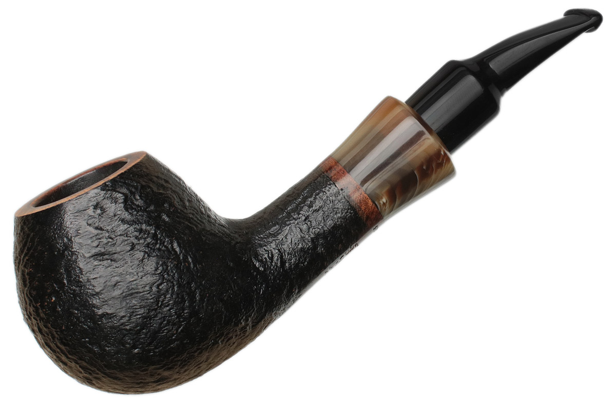 French Estate Butz-Choquin Shorty Sandblasted Bent Apple (1571) (9mm)