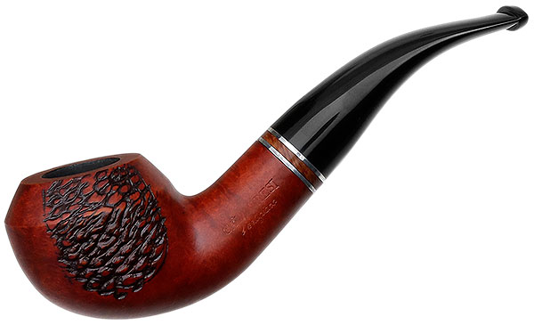 Calabresi Metamorfosi Partially Rusticated Bent Rhodesian with Silver (C) (9mm) (Unsmoked)