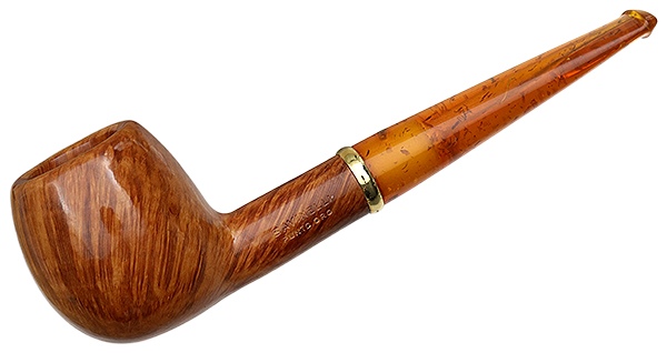 Savinelli Punto Oro Smooth with 18K Gold Band and Amber Stem (207) (6mm)  (Unsmoked)