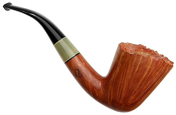 Italian Estate Amorelli Smooth Bent Dublin with Horn (**) (Unsmoked)