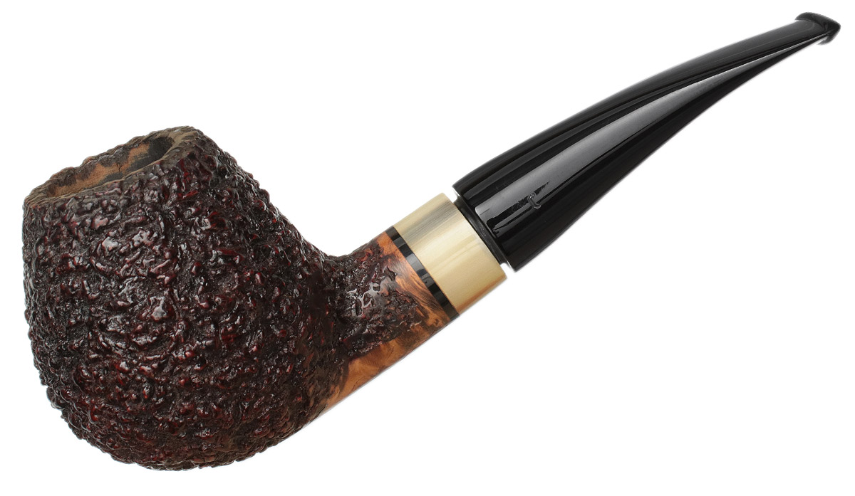 Italian Estate T. Cristiano Rusticated Bent Brandy with Horn