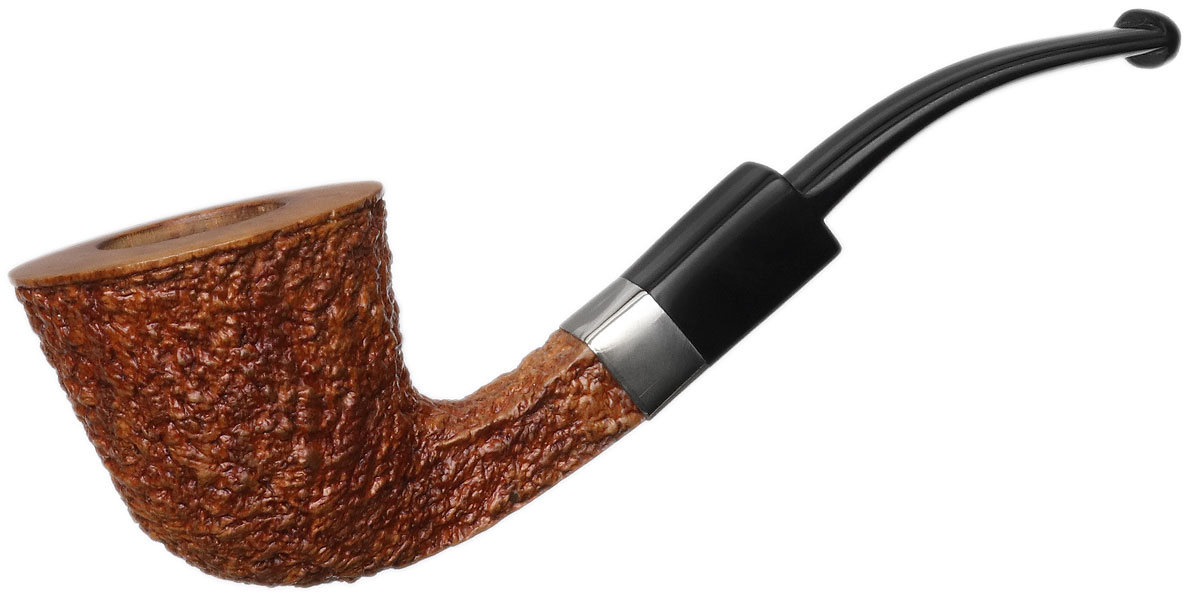 Italian Estate Amorelli Partially Rusticated Bent Dublin (Aftermarket Band) (Replacment Stem)