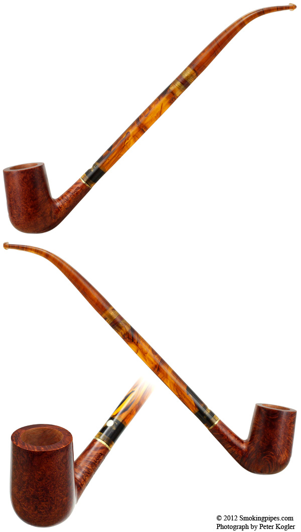 Mauro Armellini Smooth Bent Billiard Churchwarden