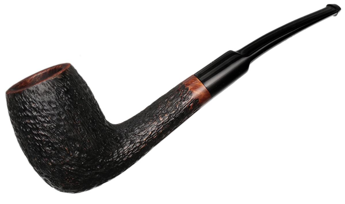 Misc. Estate Fumo Small Cut Rusticated Bent Billiard (407)