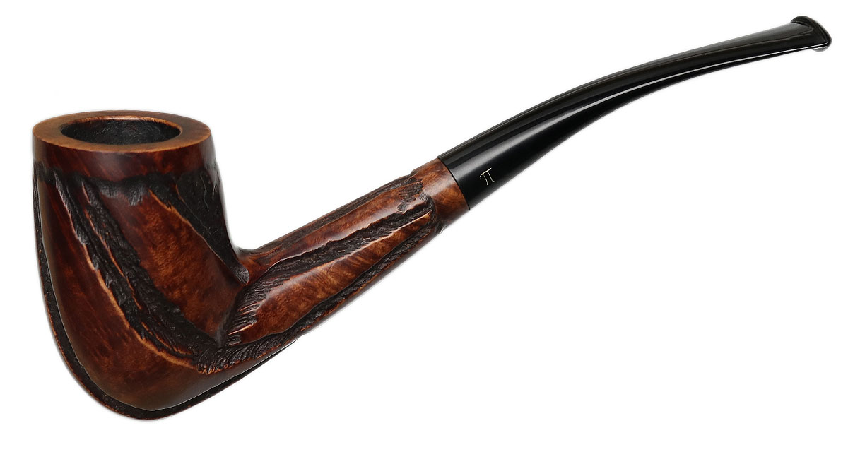 Misc. Estate Fumo Hand-Carved Partially Rusticated Bent Dublin (70)