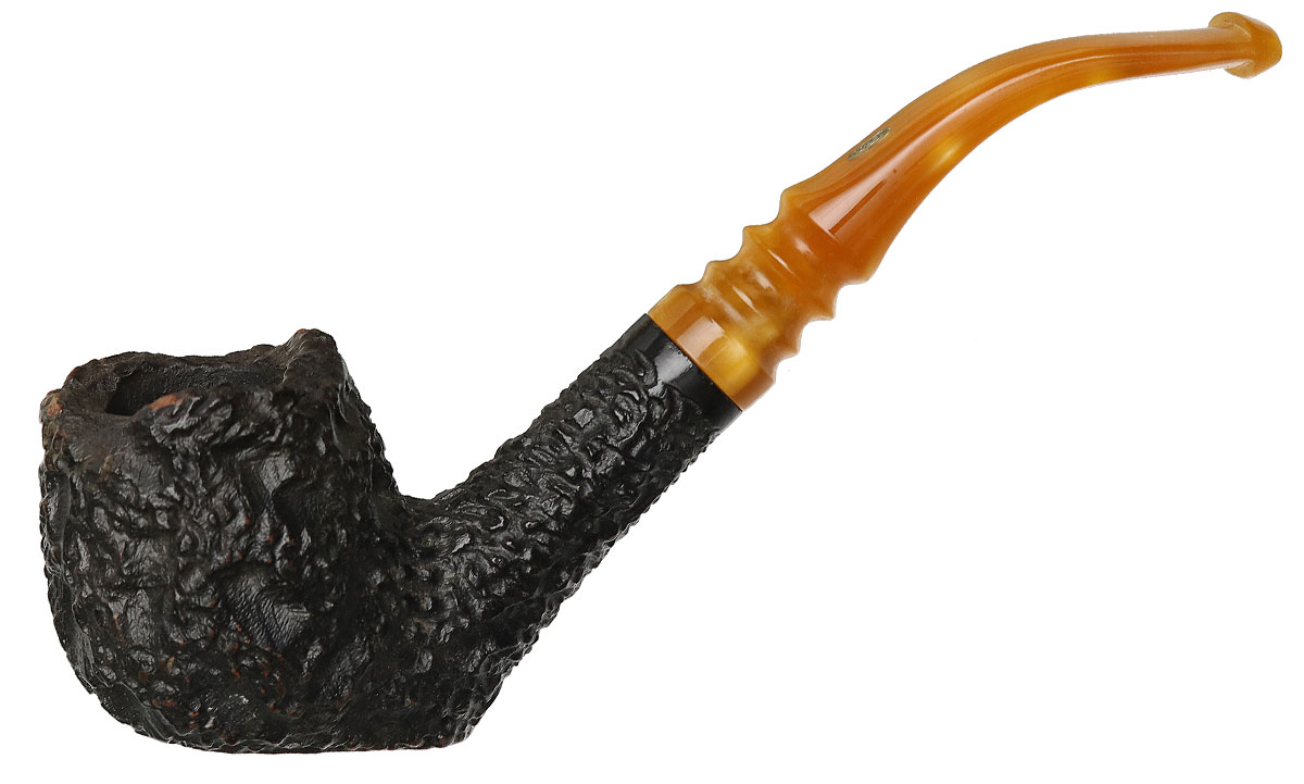 Misc. Estate Jobey Stromboli Rusticated Bent Apple Sitter (Extra) (E33)