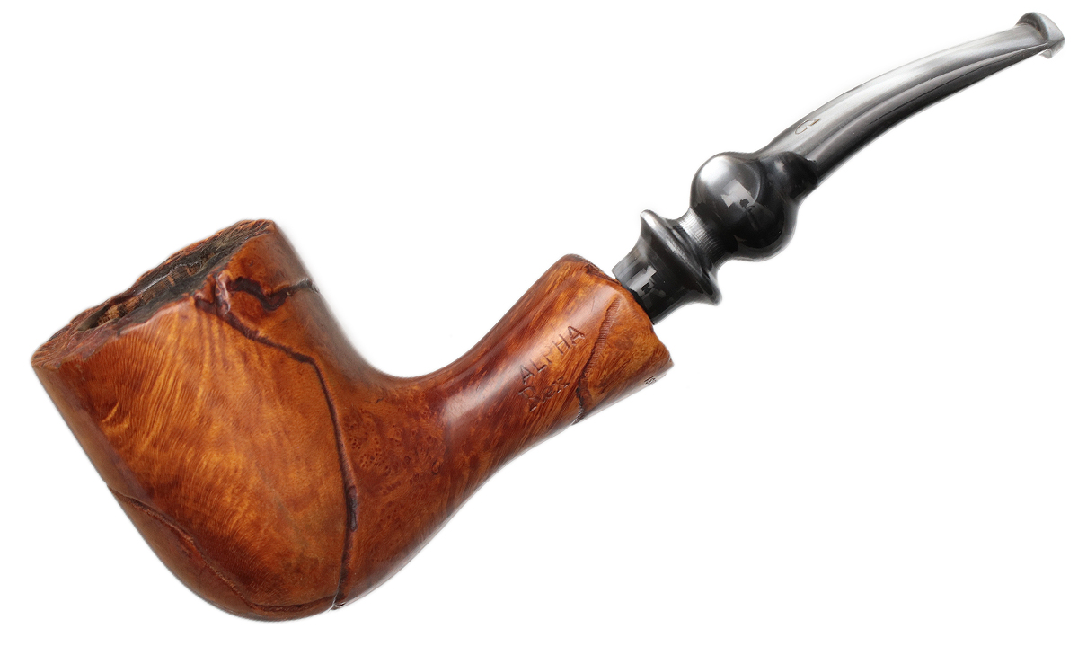 Misc. Estate Alpha Rex Spot Carved Bent Billiard