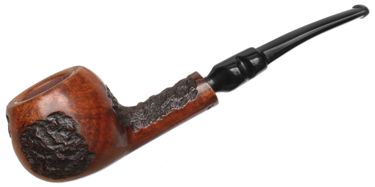 Misc. Estate Phillip Trypis Partially Rusticated Bent Apple (5) (Unsmoked)