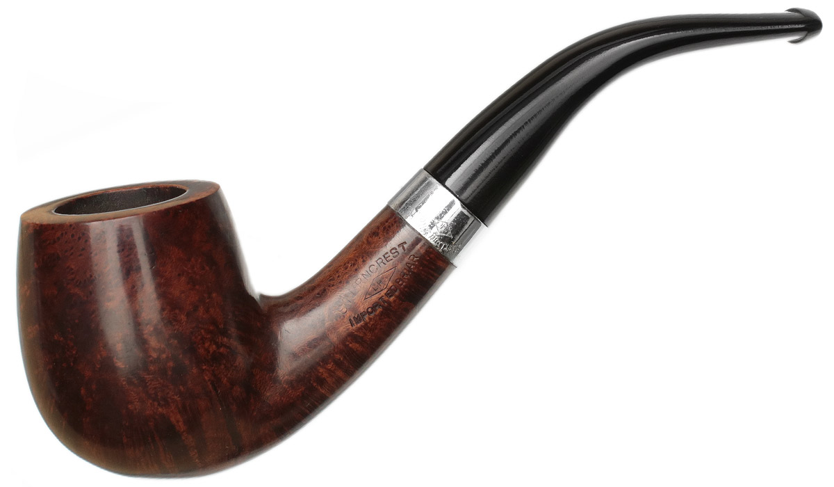 Misc. Estate LHS Sterncrest Smooth Bent Billiard with Silver