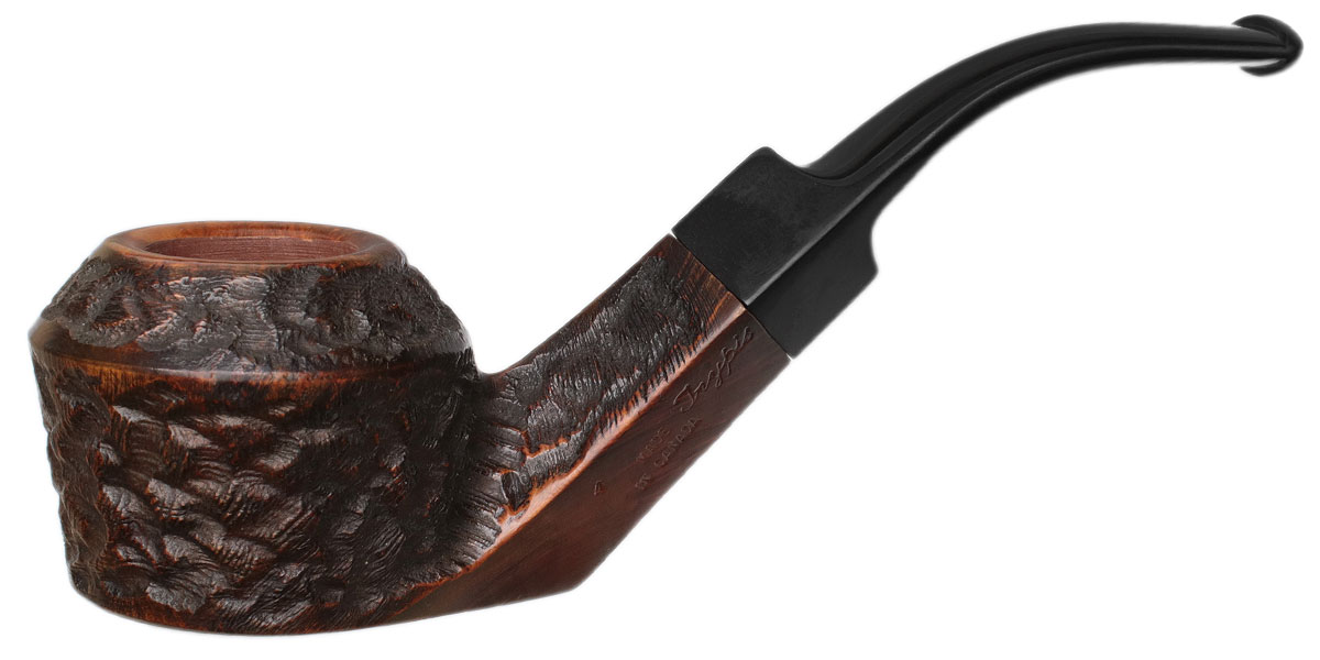 Misc. Estate Phillip Trypis Partially Rusticated Bent Bulldog Sitter (4) (Unsmoked)