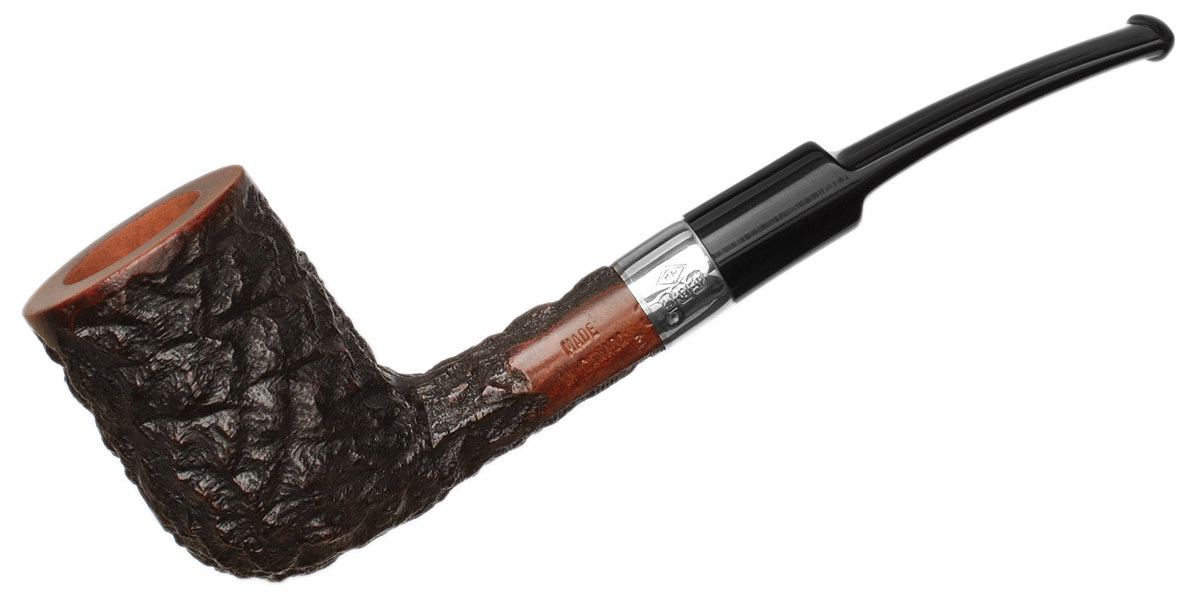 Misc. Estate Phillip Trypis Partially Rusticated Bent Billiard (3) (Unsmoked)