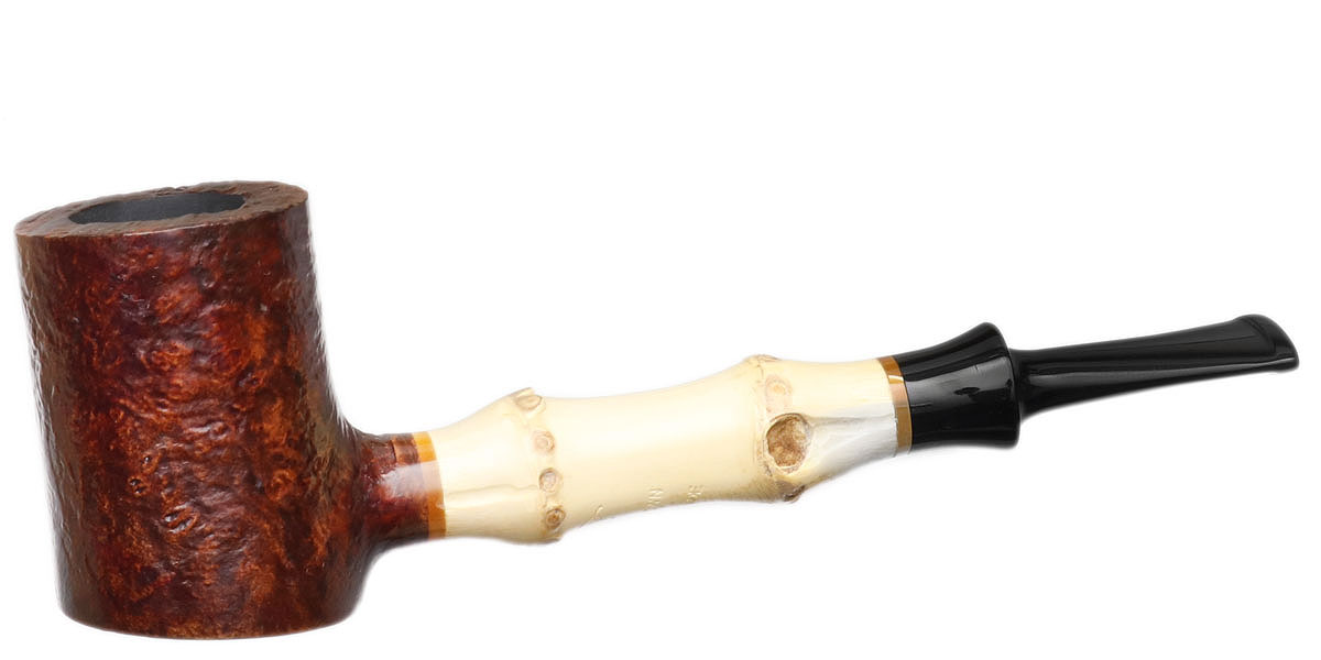 Misc. Estate Roadtown Sandblasted Poker with Bamboo (Unsmoked)
