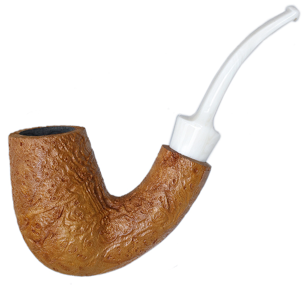 American Estate BriarWorks Neptune Light Sandblasted Bent Stack (Unsmoked)