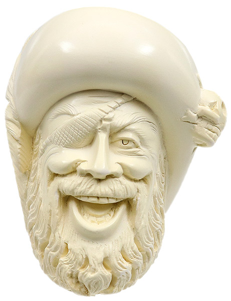 Turkish Estates SMS Meerschaum Pirate (with Case) (Unsmoked)