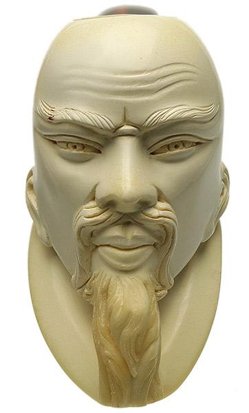 Turkish Estates Gulel Meerschaum Bearded Man (with Case) (Unsmoked)