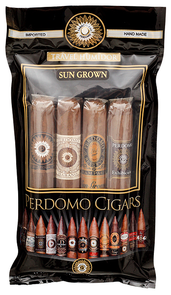 Perdomo 4 Pack Humidified Bag Sun Grown
