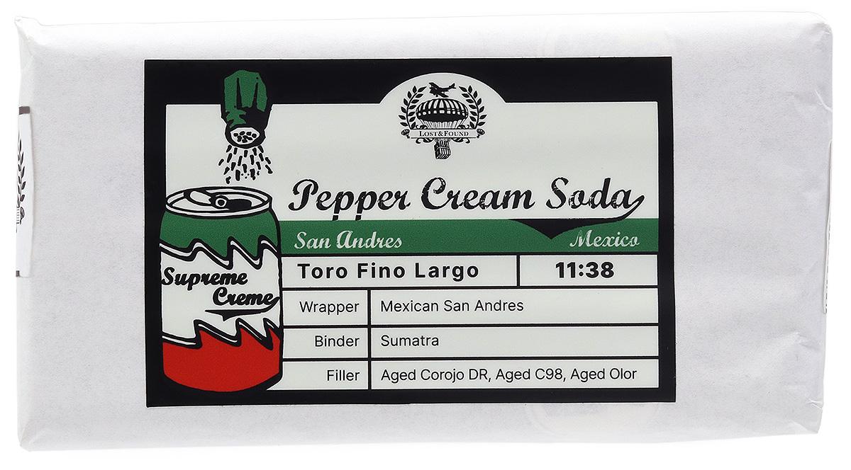 Lost & Found Pepper Cream Soda San Andres Toro Fino Largo (10 Pack)