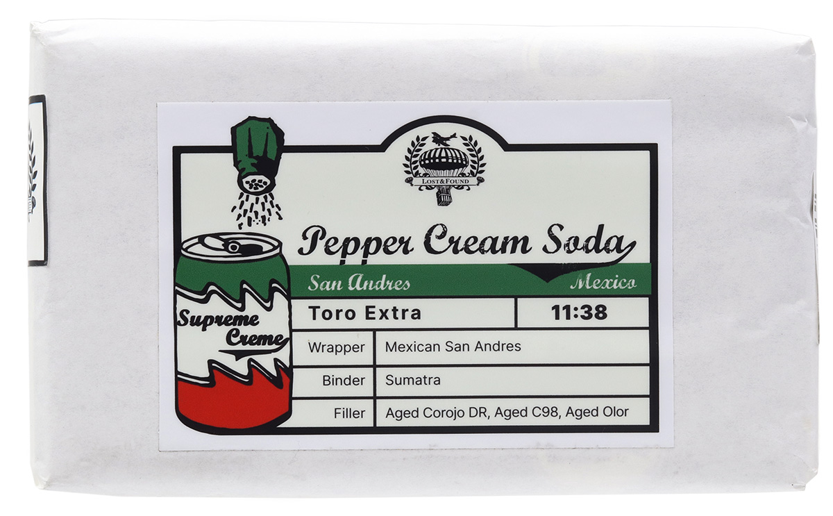Lost & Found Pepper Cream Soda San Andres Toro Extra (10 Pack)