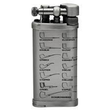 Lighters IM Corona Old Boy Pewter with Pipe Shapes