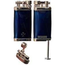 Lighters Sillem's Old Boy Enamel Blue Pipe Lighter