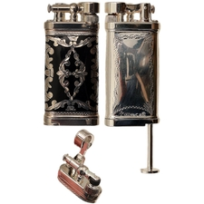 Lighters Sillem's Old Boy Linea Epoque Sterling & Black