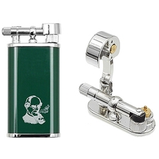 Lighters Peterson Thinking Man Pipe Lighter Green