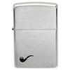 Lighters Zippo Brush Chrome Pipe Lighter w/Pipe Emblem