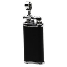 Lighters IM Corona Old Boy Black & Chrome Engine Turned