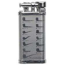 Lighters IM Corona Old Boy Rhodium Pipe Design