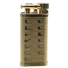 Lighters IM Corona Old Boy Gold Plate Pipe Design