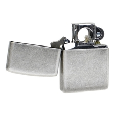 Lighters Zippo Antique Silver Plate Pipe Lighter