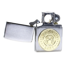 Lighters Zippo Army Crest Brushed Chrome Pipe Lighter