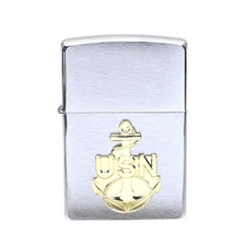 Lighters Zippo Navy Anchor Brushed Crome Lighter