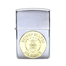 Lighters Zippo Air Force Crest Brushed Chrome Lighter