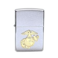 Lighters Zippo Marines Crest Brushed Chrome Lighter