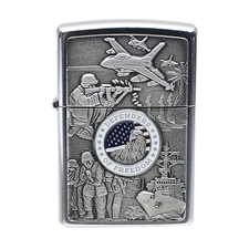 Lighters Zippo Joint Forces Street Chrome Lighter