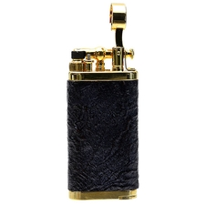 Lighters IM Corona Old Boy Gold Plated Sandblasted Briar