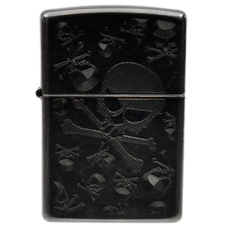Lighters Zippo Skull & Crossbones Gray Dusk Iced