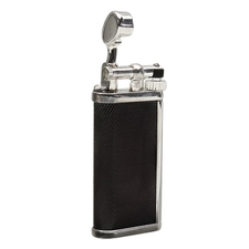 Lighters Dunhill Unique Barley Black & Silver Plate