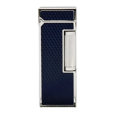 Lighters Dunhill Rollagas Diamond Pattern Blue Resin Palladium Plate