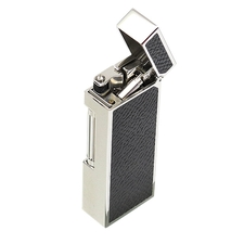 Lighters Dunhill Rollagas Grey Cowhide Palladium Plate