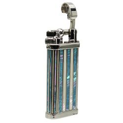 Lighters IM Corona Old Boy 2018 Lighter of the Year Rhodium Plated Mother of Pearl Inlay