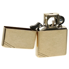 Lighters Zippo Vintage Brushed Brass Pipe Lighter